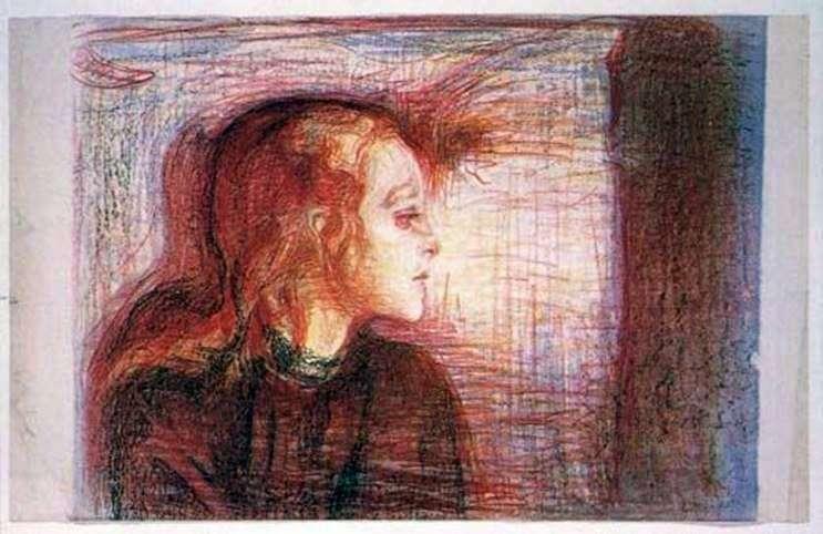 فتاة صرعية   إدوارد مونش