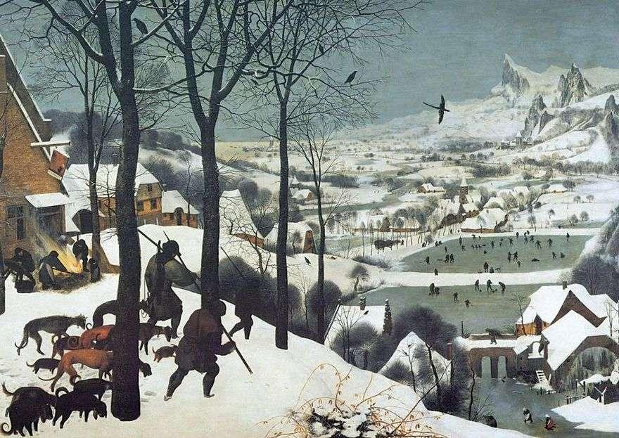 الصيادون في الثلج   بيتر بروجيل