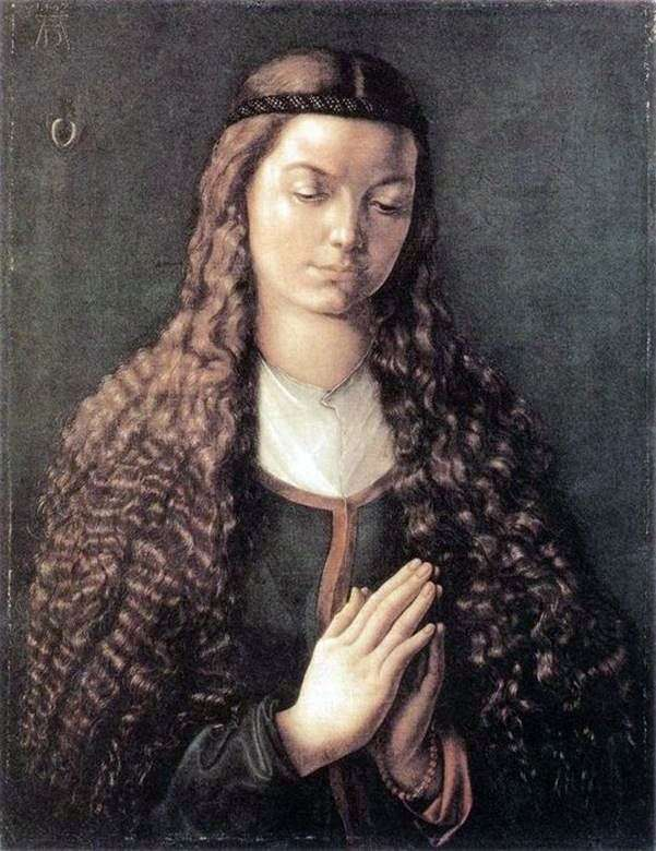 صورة لفتاة صغيرة ذات شعر متدفق   ألبريشت دورر