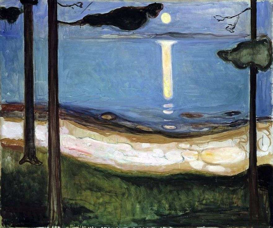 ضوء القمر   إدوارد مونش