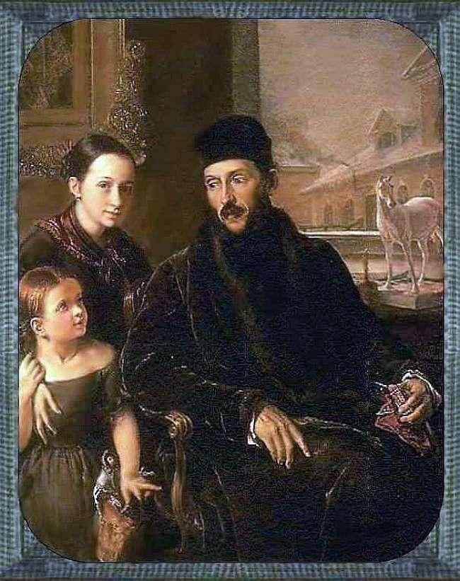 صورة د. فويكوفا مع ابنتها وحاكمتها ملكة جمال سوروك   فاسيلي تروبينين