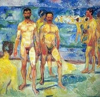 رجال على الشاطئ   إدوارد مونش