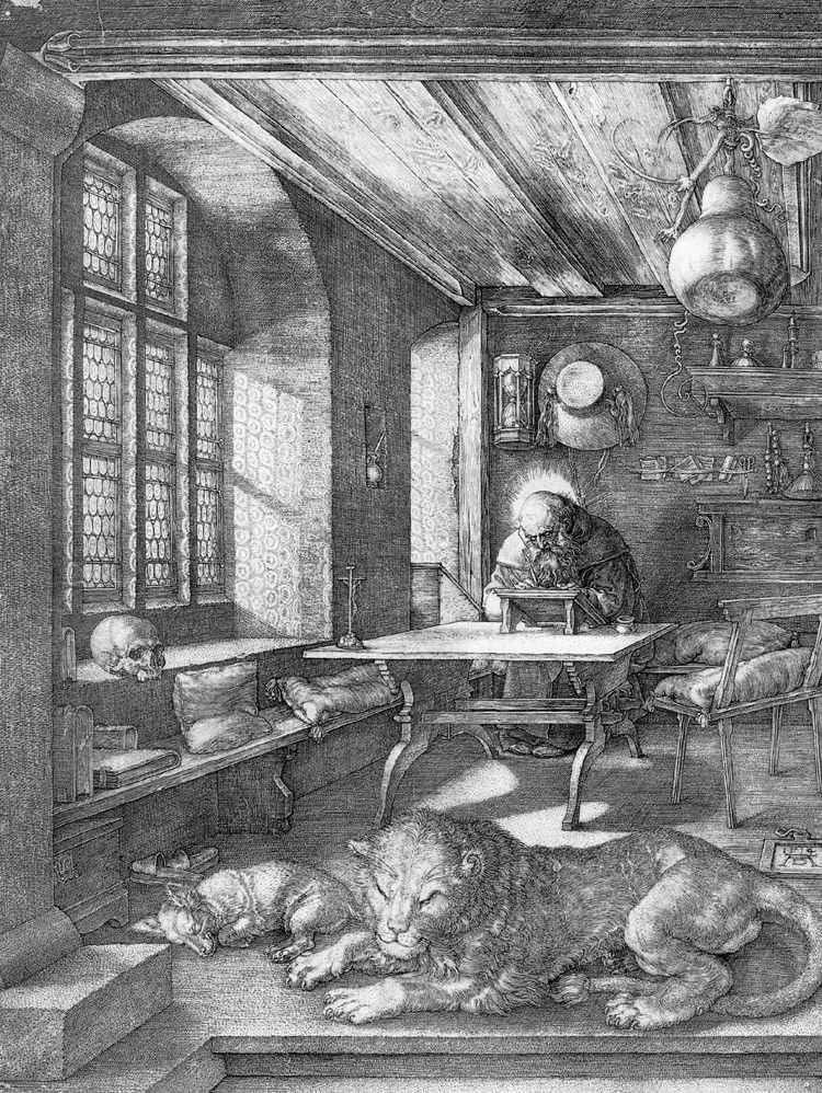 القديس جيروم في الخلية   ألبريشت دورر