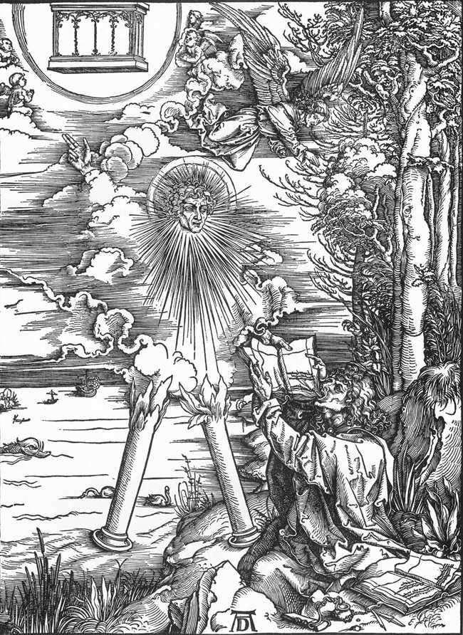 القديس يوحنا يتلقى كتاب الوحي   ألبريشت دورر