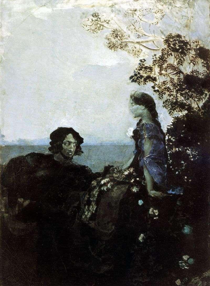هاملت وأوفيليا   ميخائيل فروبيل
