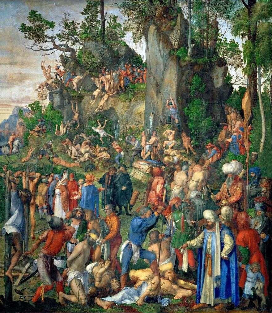 مقتل عشرة آلاف مسيحي   ألبريشت دورر