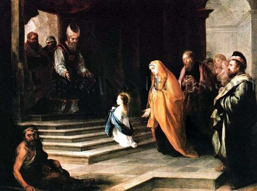 مقدمة من العذراء مريم إلى الهيكل   بارتولوميو إستيبان موريللو