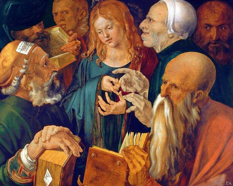 المسيح بين الكتبة   ألبريشت دورر