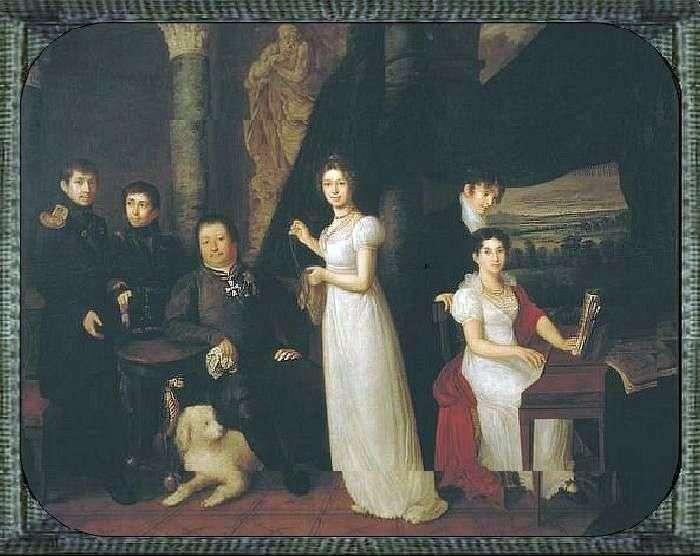 صورة عائلية لموركوف   فاسيلي تروبينين