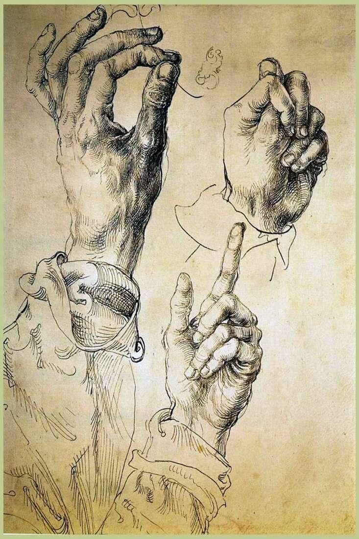 القطعة الموسيقية الأيدي الثلاثة   ألبريشت دورر