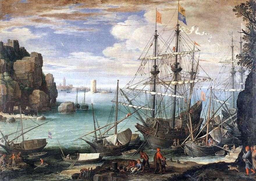 منظر للميناء   بول بريل
