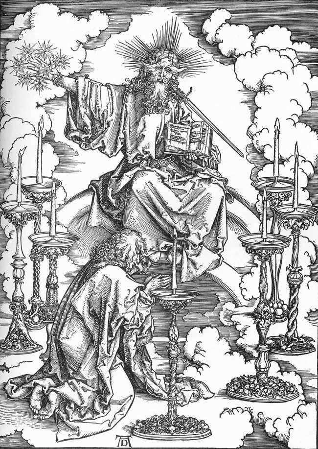 ظهور يوحنا المسيح وجوهر الكنائس السبع   ألبريشت دورر