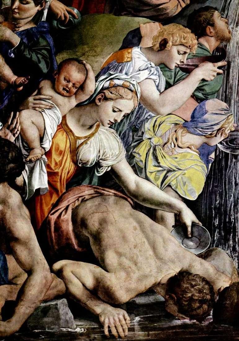 موسى يقطع الماء من صخرة (جدارية)   أنولو برونزينو