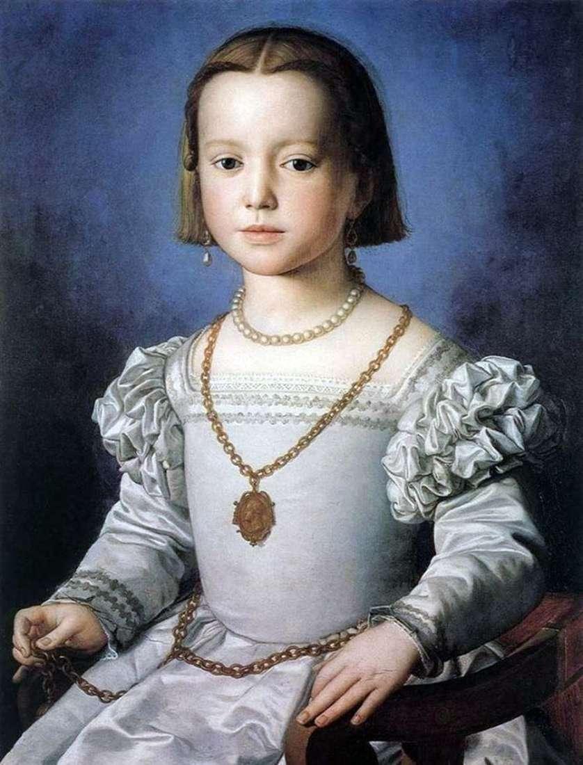 صورة بيا ميديتشي ، ابنة كوزيمو الأول   أنولو برونزينو