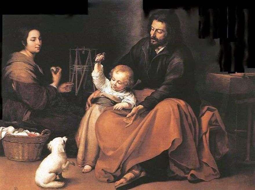 العائلة المقدسة مع طائر   بارتولومي إستيبان موريللو