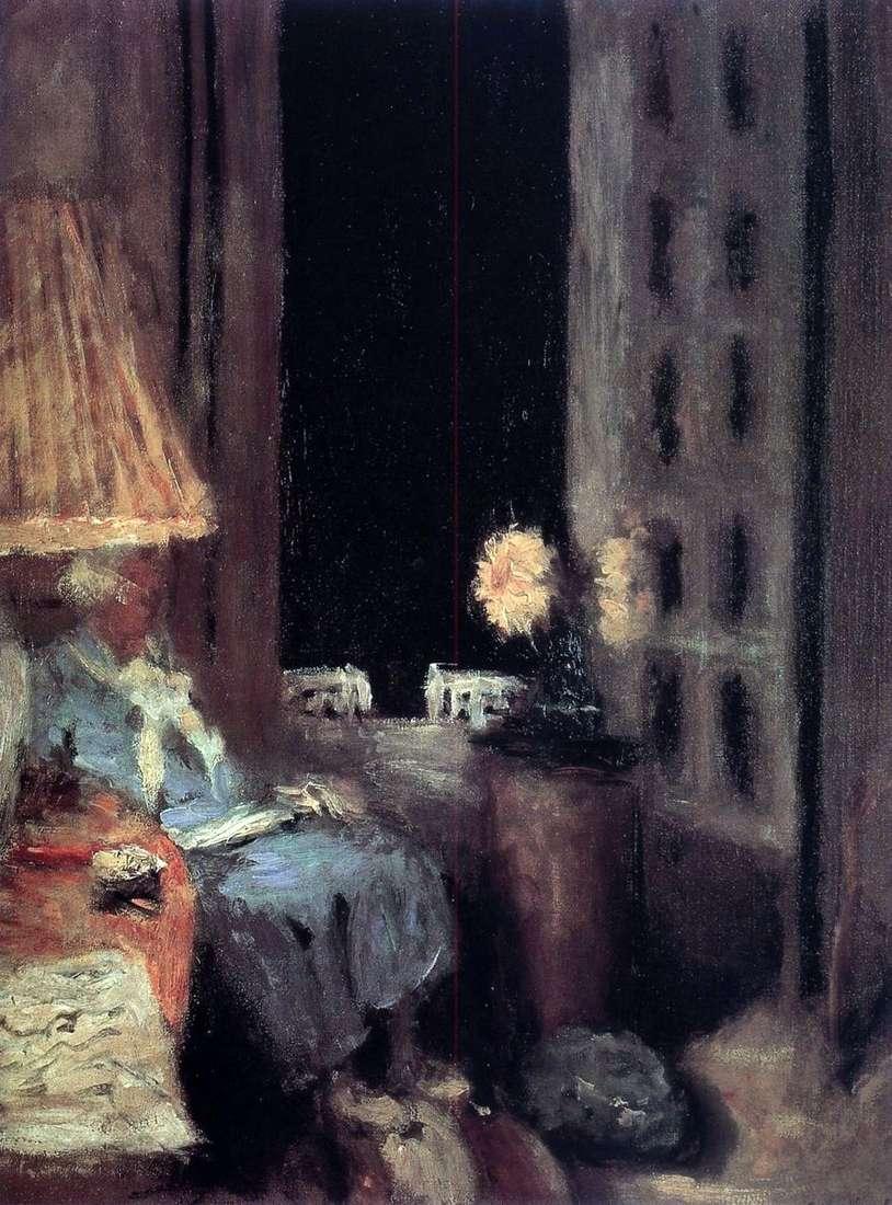 قراءة المرأة. المساء.   إدوارد فويلارد