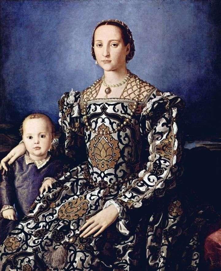 صورة إليونورا توليدو مع ابنها جيوفاني ميديشي   أنولو برونزينو