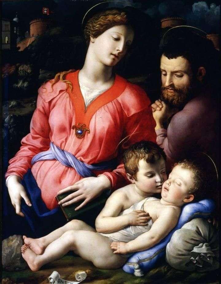 العائلة المقدسة Panchiatiki   أنولو برونزينو