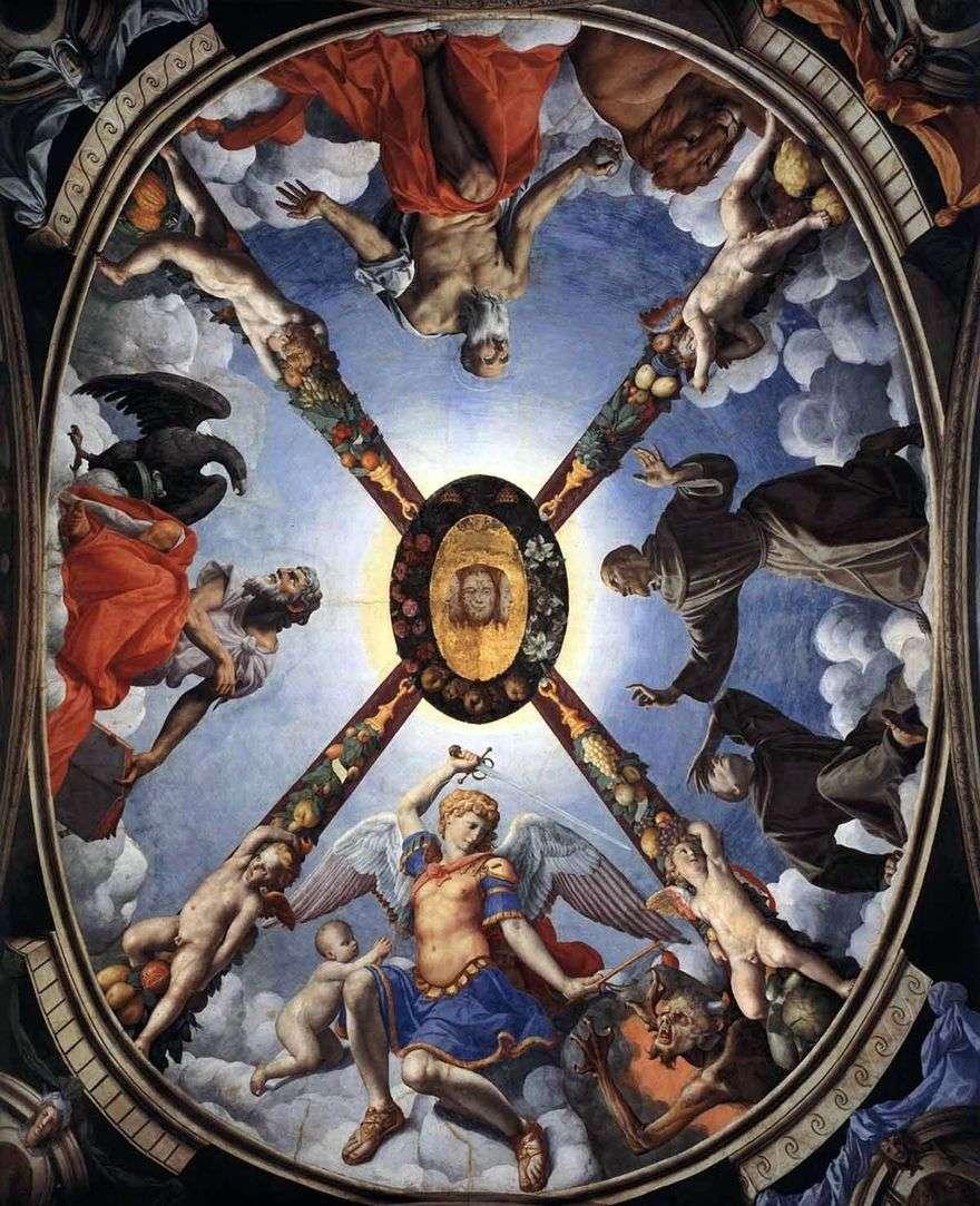 زخرفة ، لوحة السقف   Agnolo Bronzino