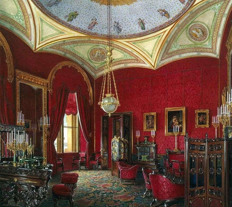 أنواع غرف قصر الشتاء. مجلس الوزراء الإمبراطورة الكسندرا فيودوروفنا   إدوارد هاو